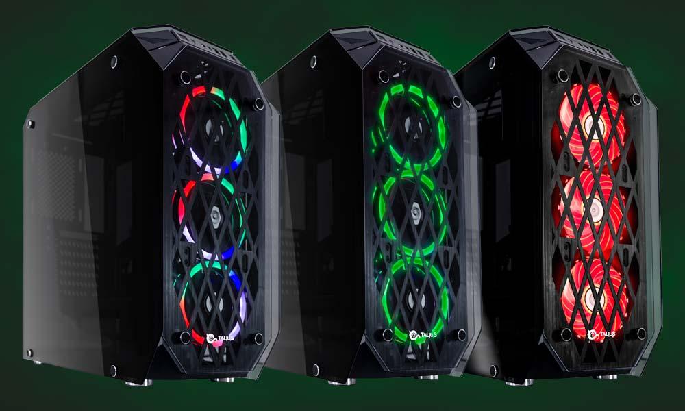 Ventiladores de colores caja gaming Kraken