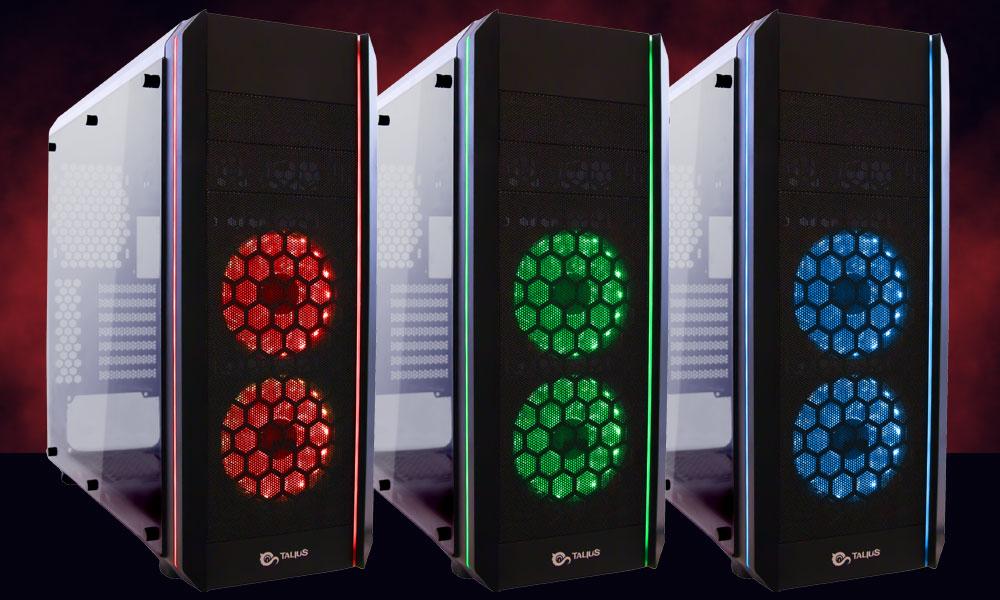 Tres colores de la Caja Gaming Daemon