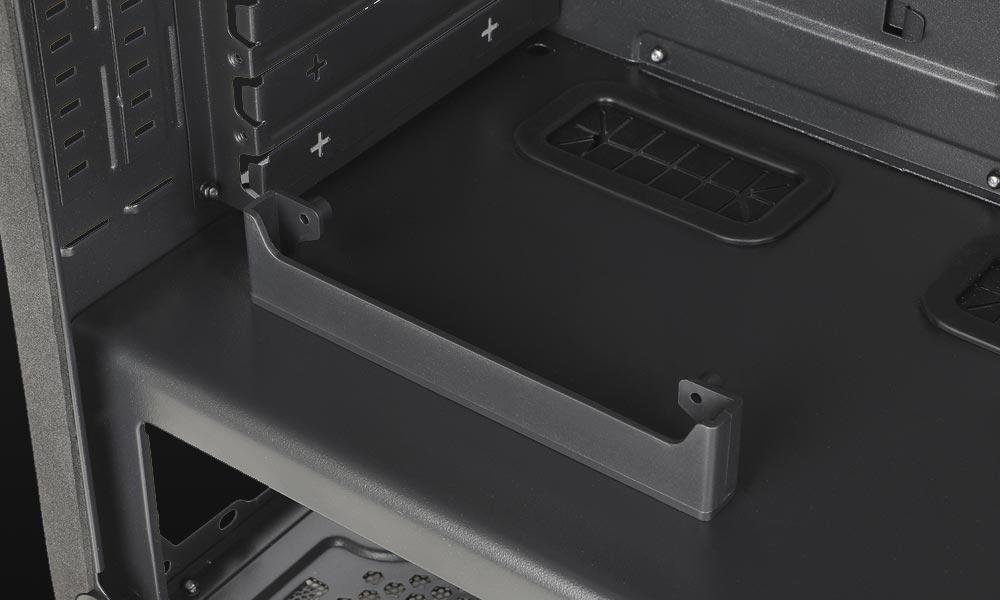 Interior caja gaming Auriga con Sujeción vertical de VGA