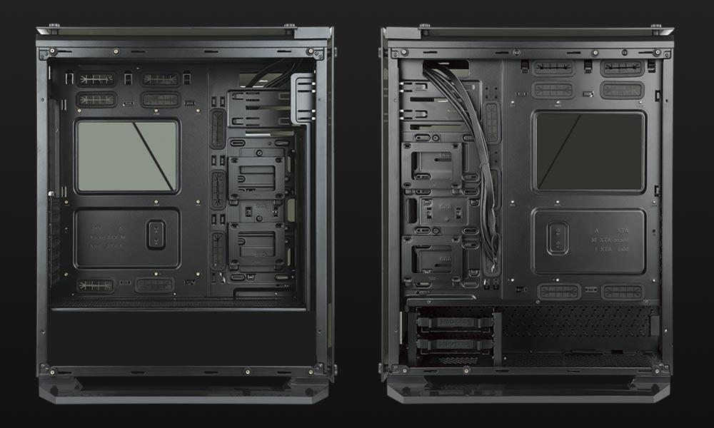 Interior de la caja gaming Cygnus