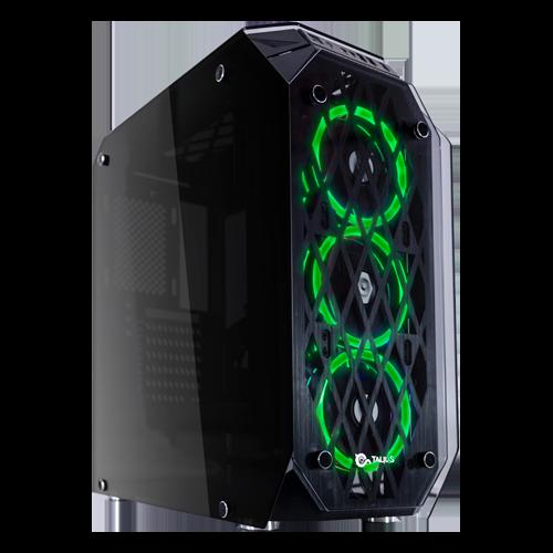 Caja Gaming Kraken lateral y frontal verde