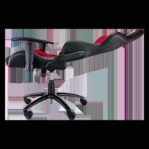 Lateral silla gaming Caiman rojo