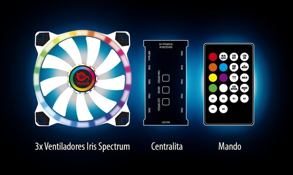 Controles de la caja gaming Cronos Orchid | Talius